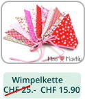 Wimpelkette  CHF 25.-    CHF 15.90